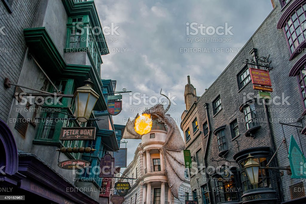 The Wizarding World of Harry Potter - Diagon Alley stock photo