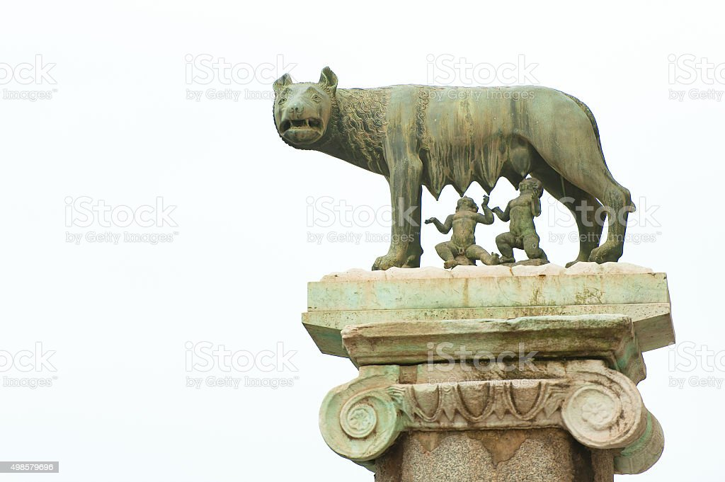 The wolf of Rome stock photo