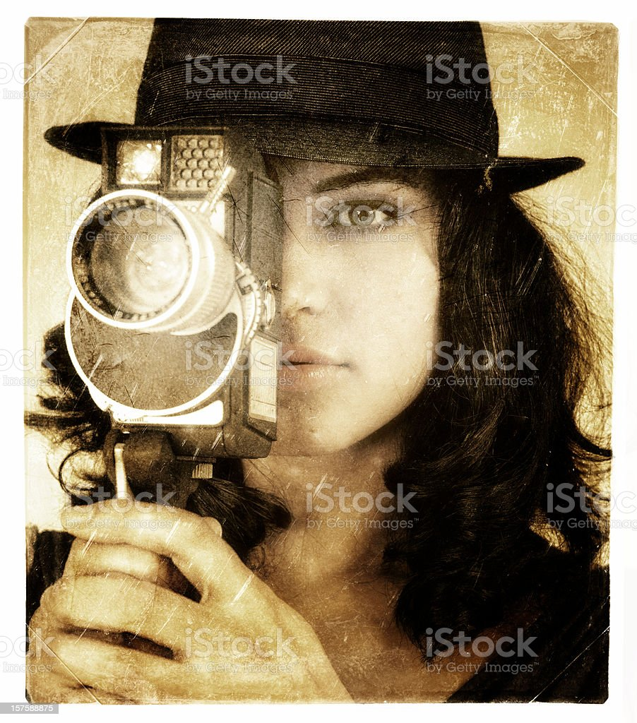 la femme director stock photo