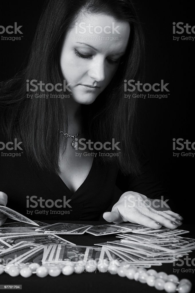 The woman fortuneteller royalty-free stock photo