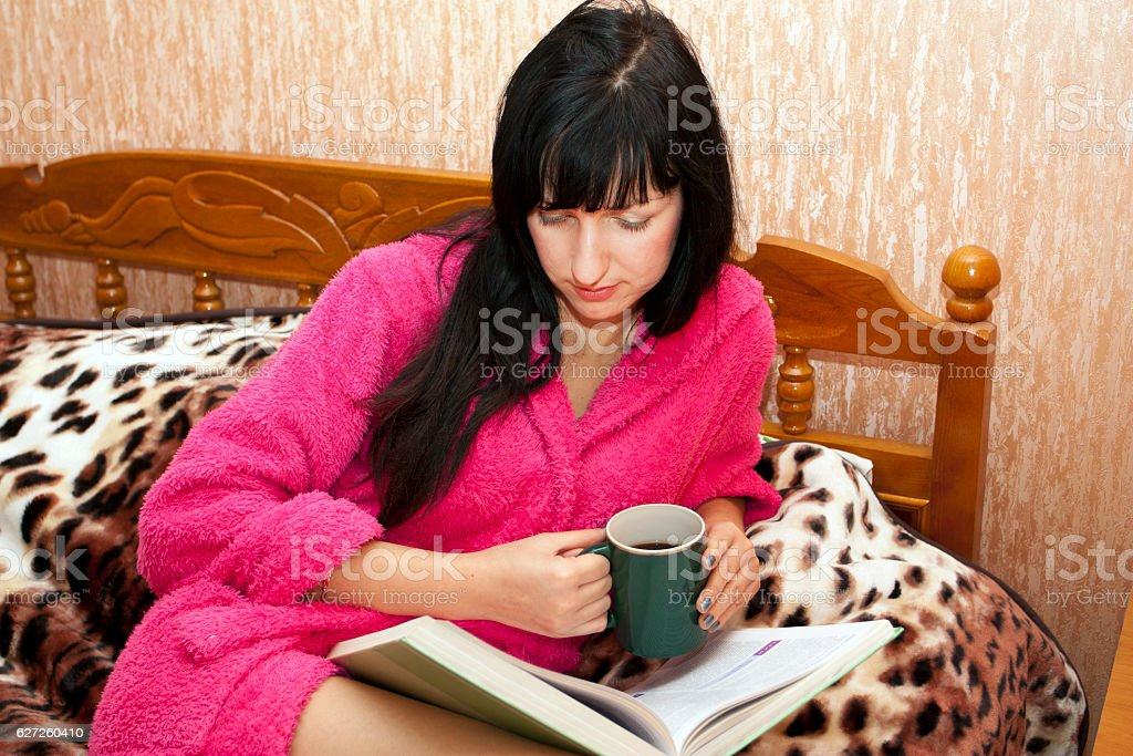 The woman on a sofa stock photo
