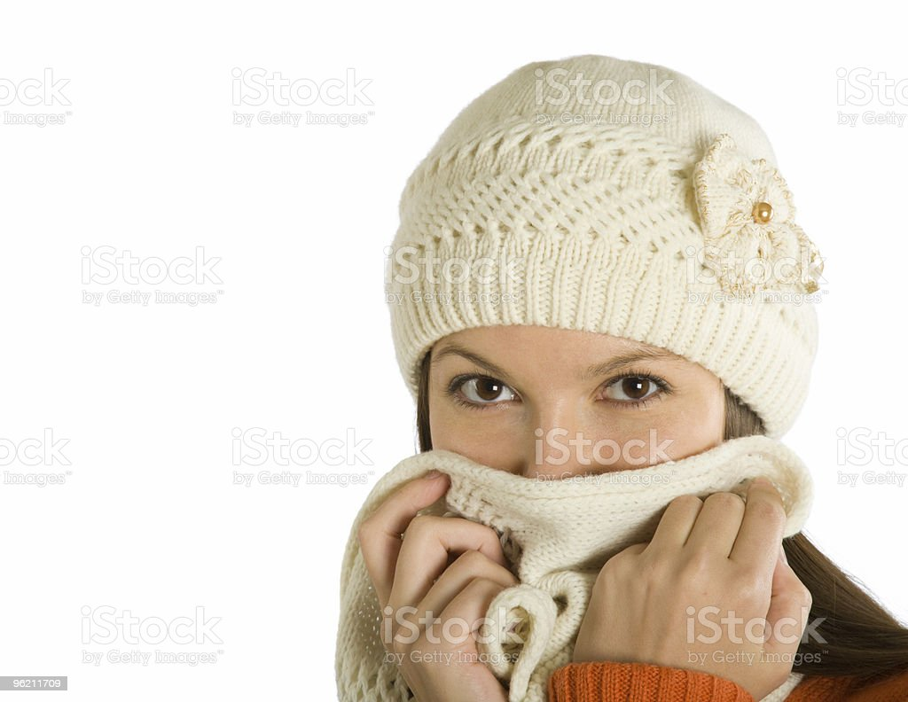 The woman sick of a flu royalty-free stock photo