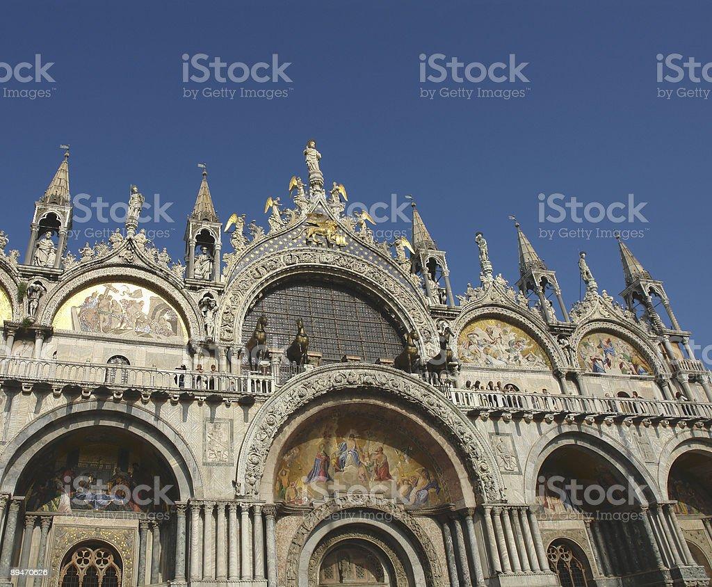 The wonderful St Mark's Basilica royalty-free stock photo