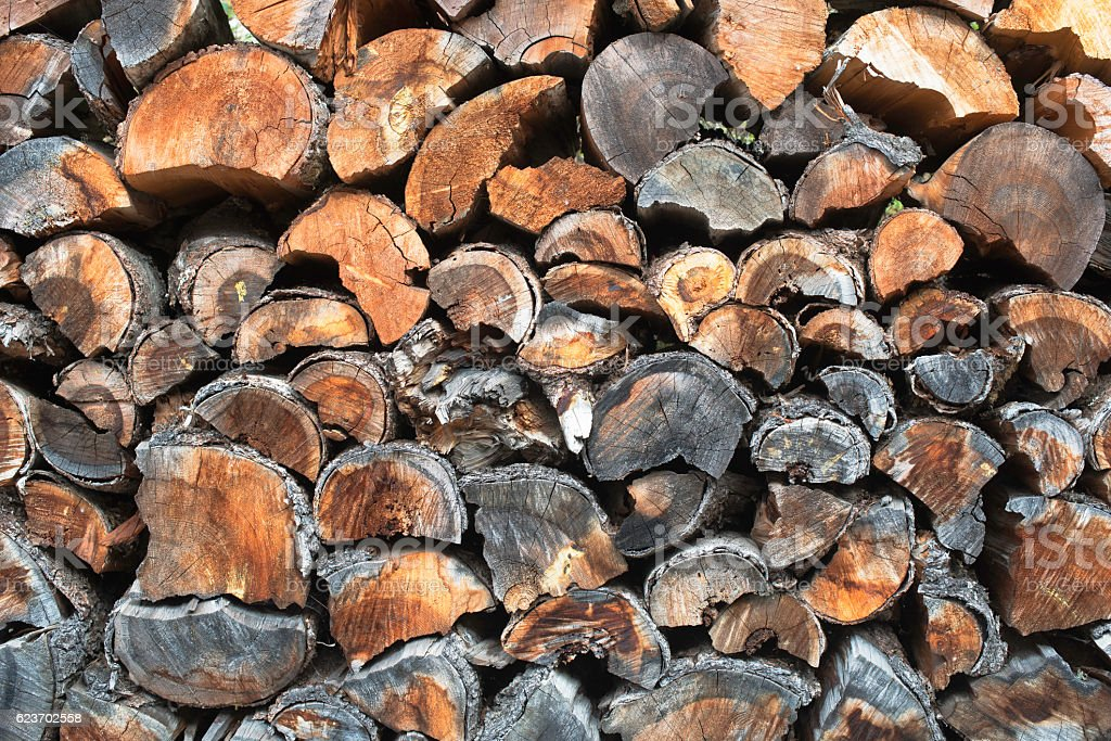 The wood is stacked together stock photo