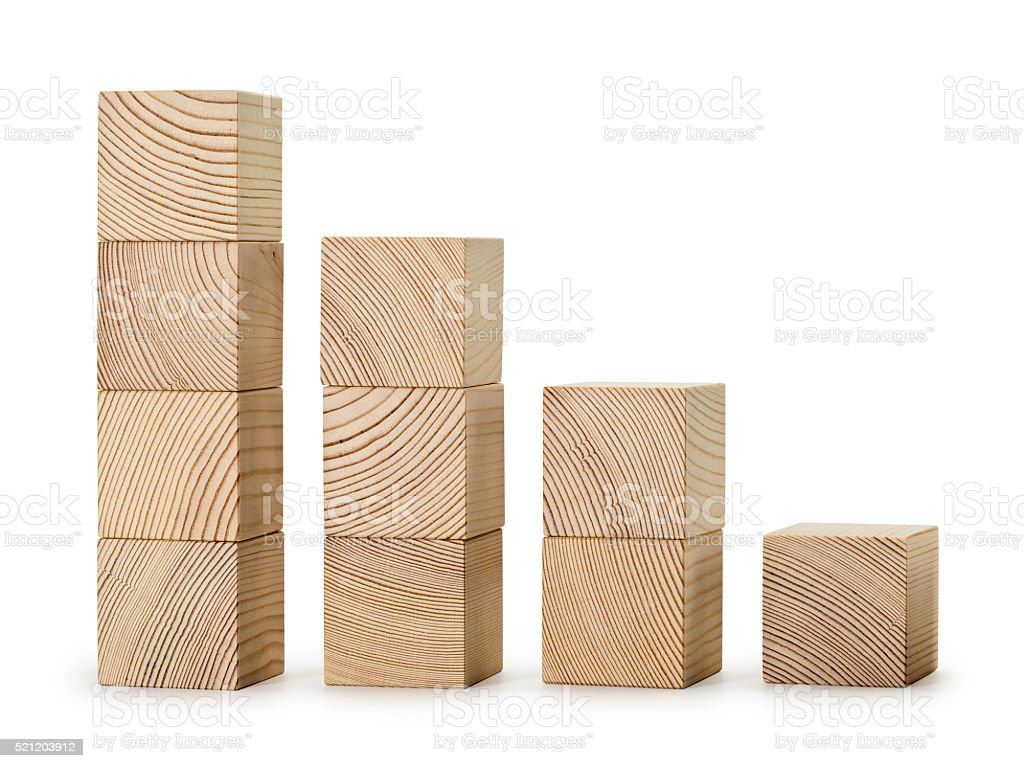 The wooden diagramme stock photo