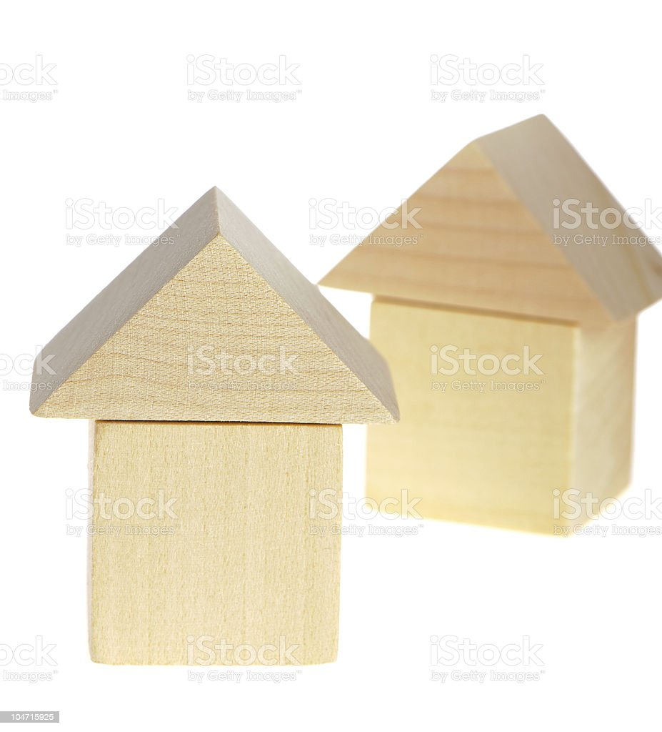 The wooden house royalty-free stock photo