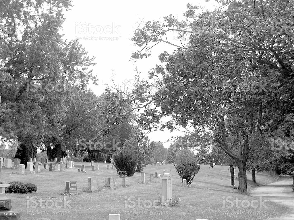 The Woodlawn Cemetary royalty-free stock photo