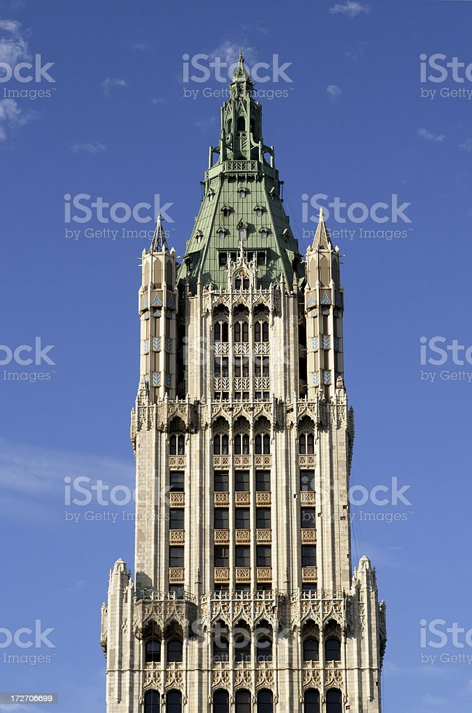 The Woolworth Building a beautiful skyscraper from another era stock photo
