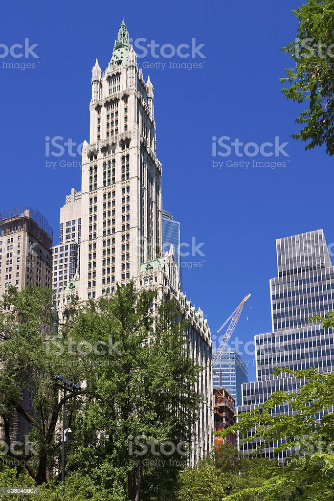 The Woolworth Building, New York City. royalty-free stock photo