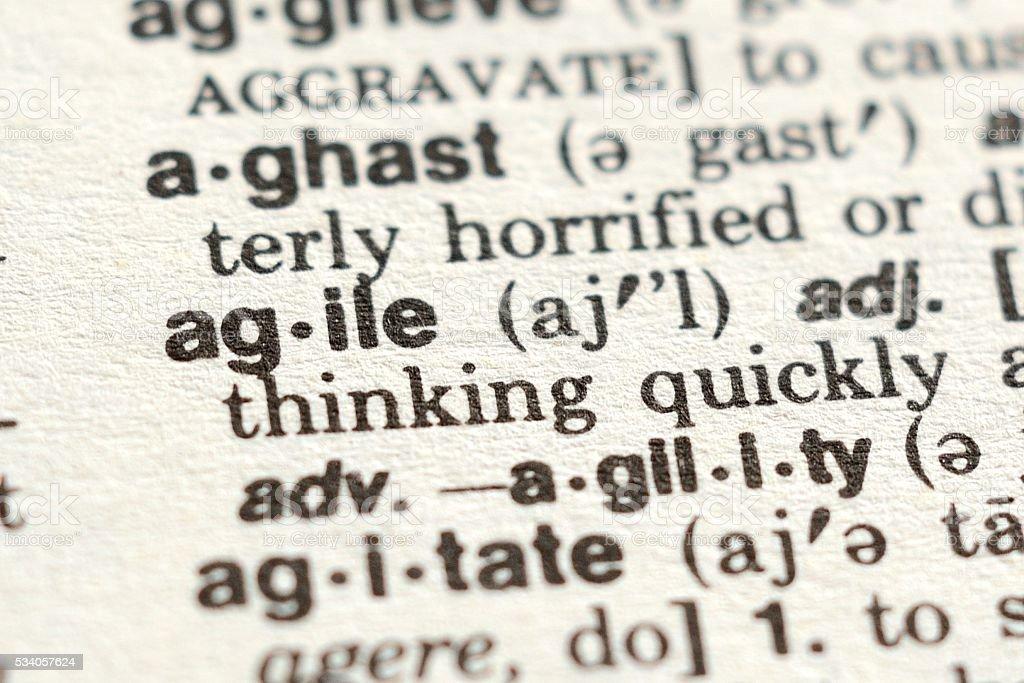 The Word Agile stock photo