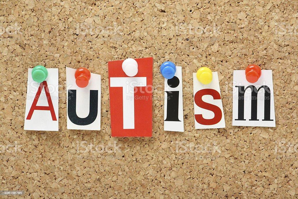 The word Autism stock photo