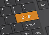 The word Beer written on the keyboard