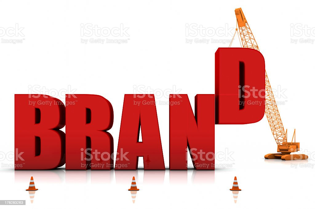 The word brand, and the letter D is the final piece  stock photo
