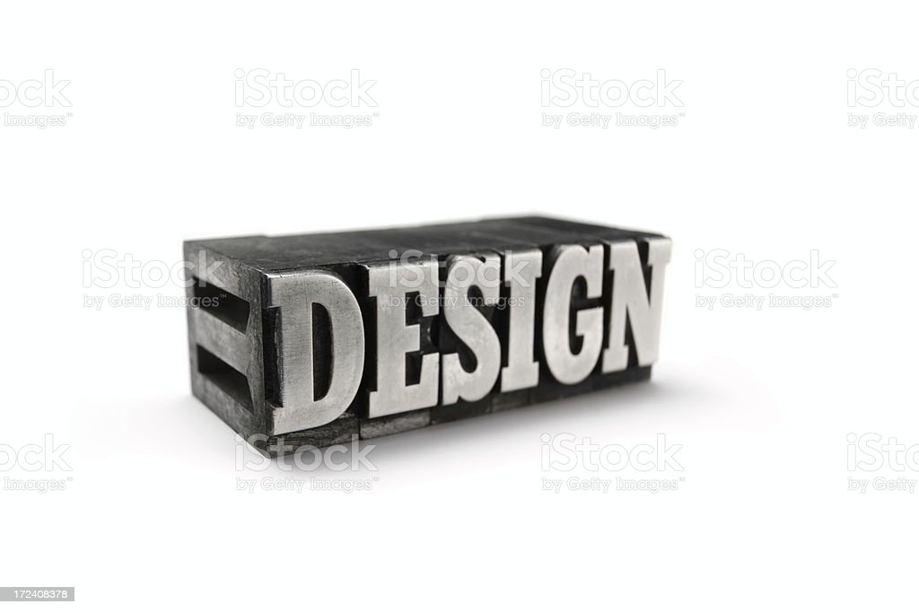 The word DESIGN - printing blocks royalty-free stock photo