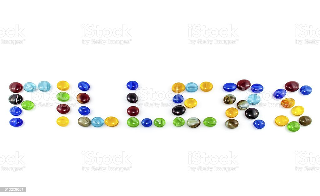 The word Fillers stock photo