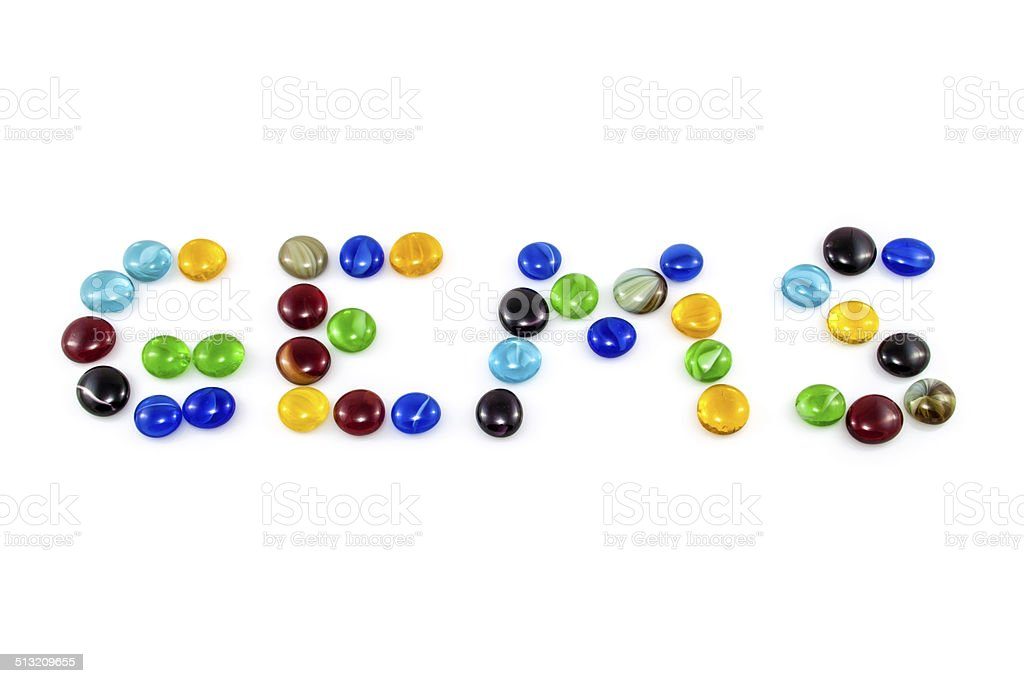 The word Gems stock photo
