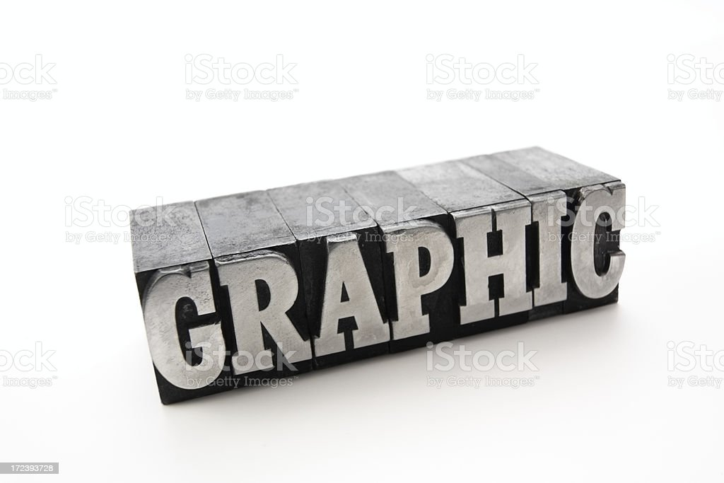 The word GRAPHIC  - printing blocks royalty-free stock photo