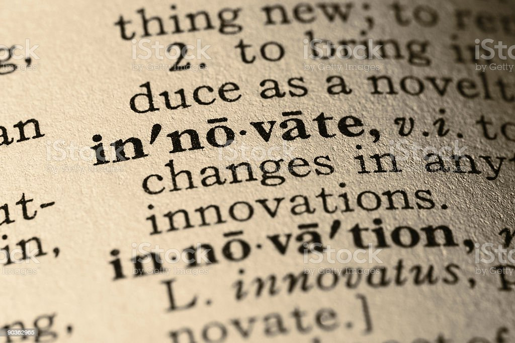 The word innovate royalty-free stock photo