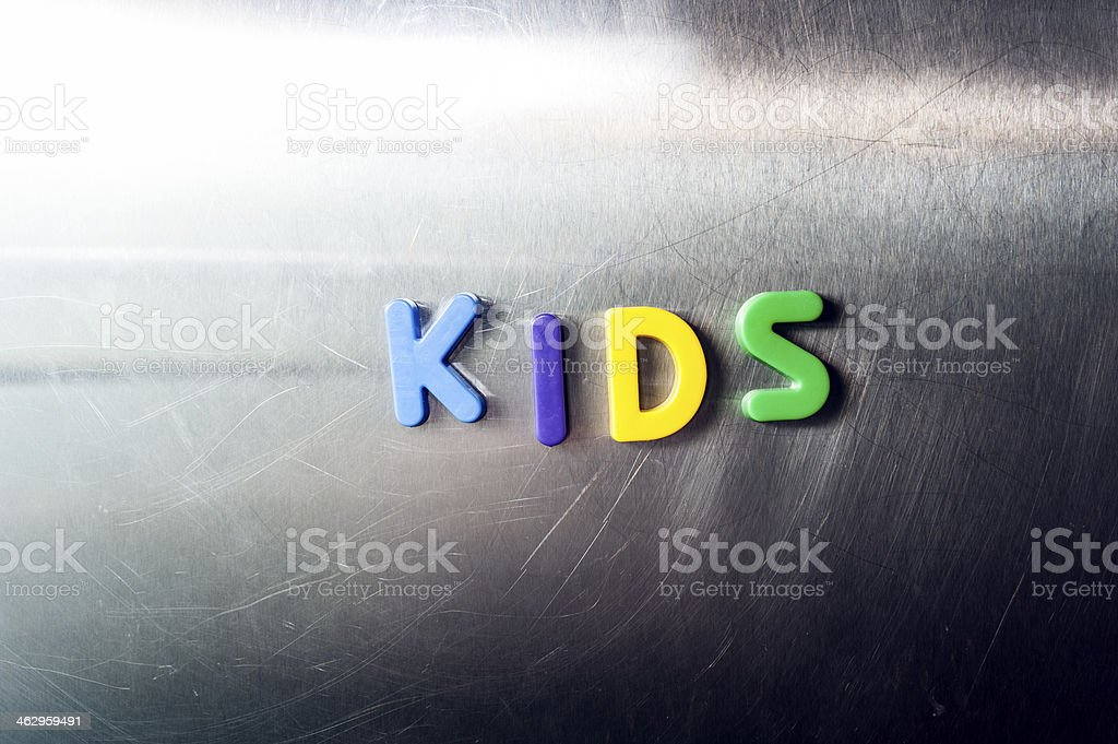 The word Kids stock photo