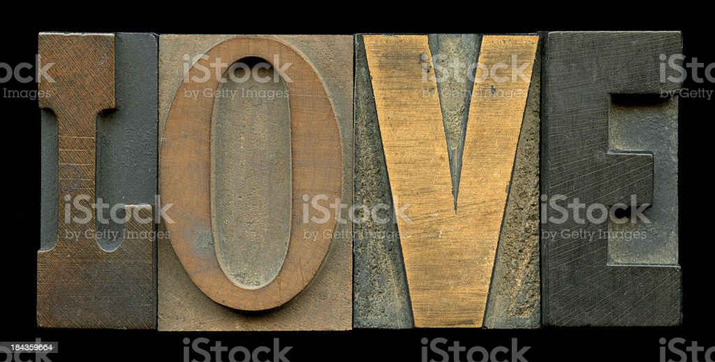 The Word Love - Oldstyle royalty-free stock photo