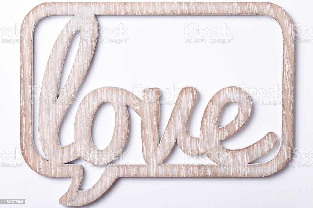 the word love on a white background stock photo