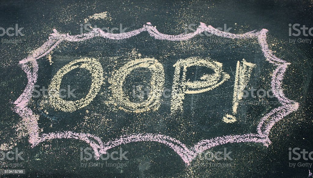 the word oop stock photo