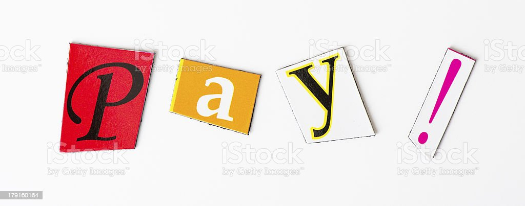 The word pay royalty-free stock photo