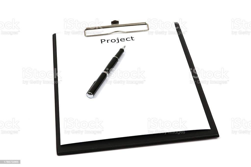 The word projects stock photo