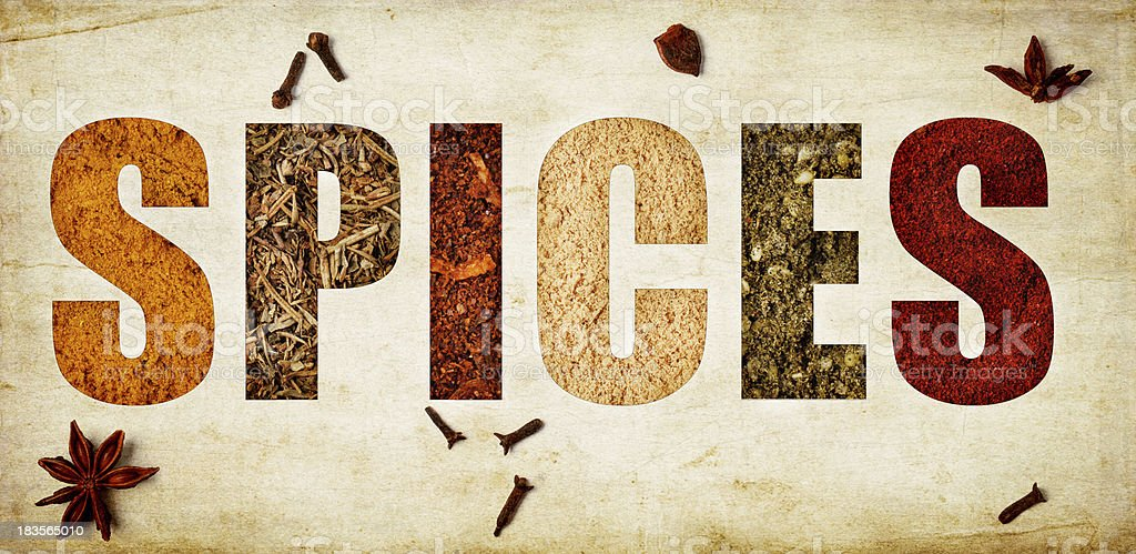 The word spices royalty-free stock photo