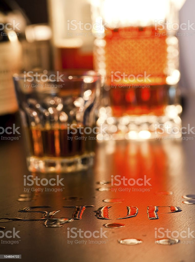 The word Stop royalty-free stock photo