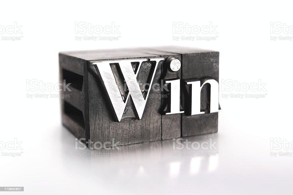 The word WIN  - printing blocks royalty-free stock photo