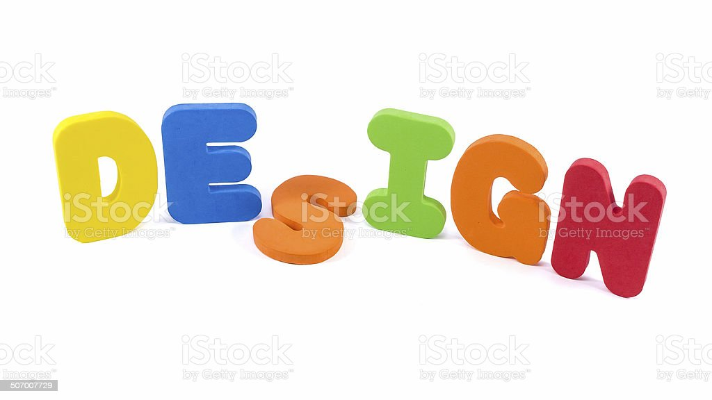 The words 'DESIGN' royalty-free stock photo