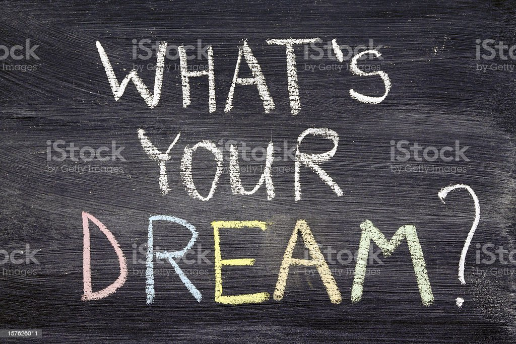 The words What's Your Dream? written on a chalkboard royalty-free stock photo