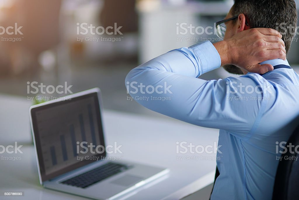 The working day is not going his way stock photo