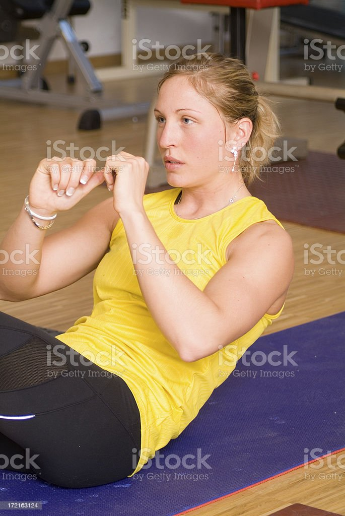 The Workout Series royalty-free stock photo