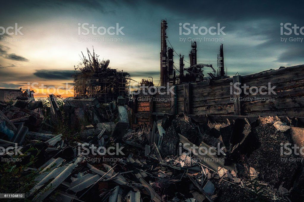 The world after nuclear war stock photo