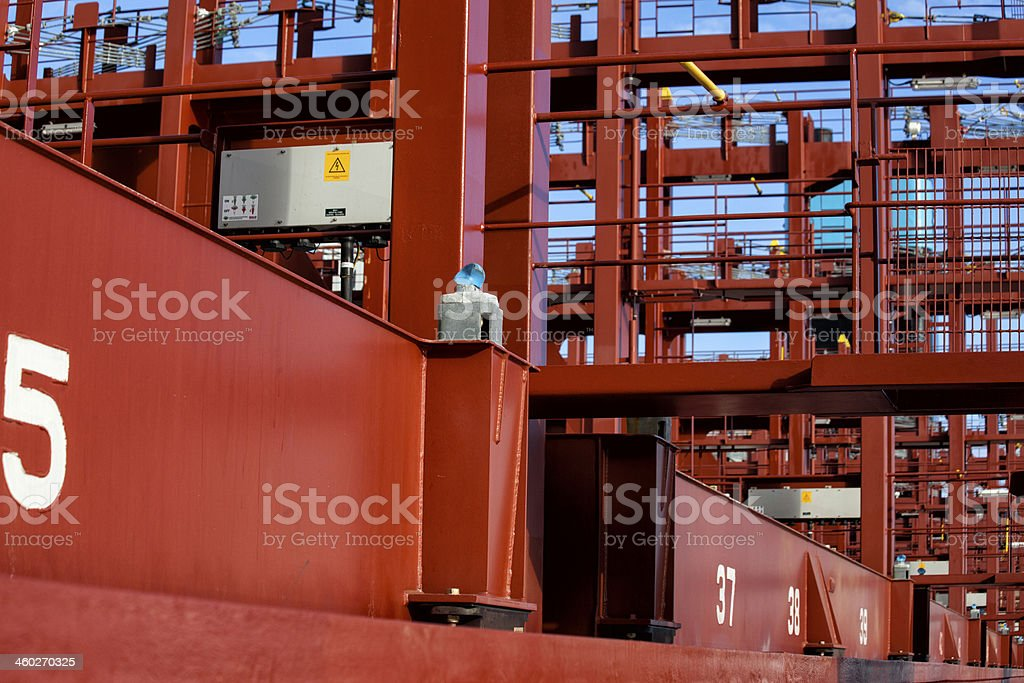 The World biggest ship Details royalty-free stock photo