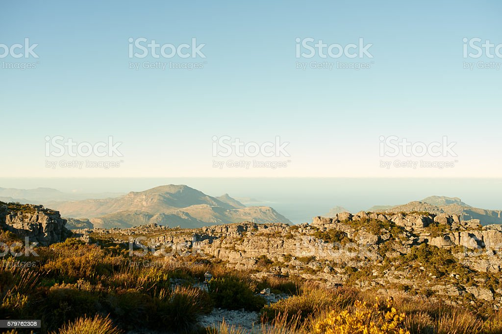 The world changes very rapidly, mountains don't stock photo