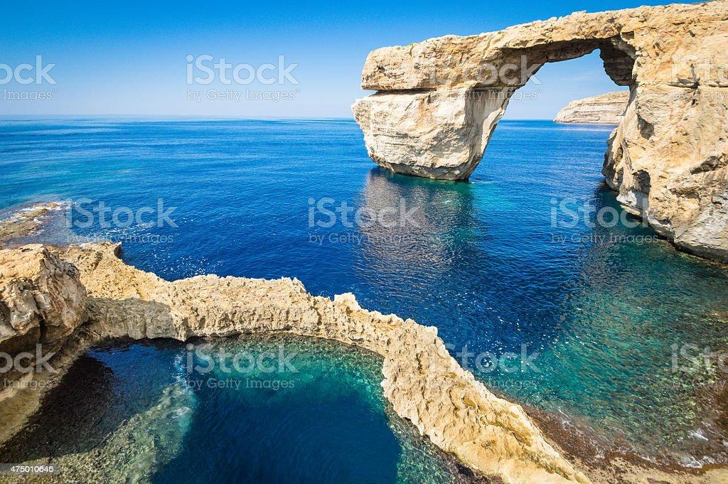 The world famous Azure Window in Gozo - Malta Island stock photo