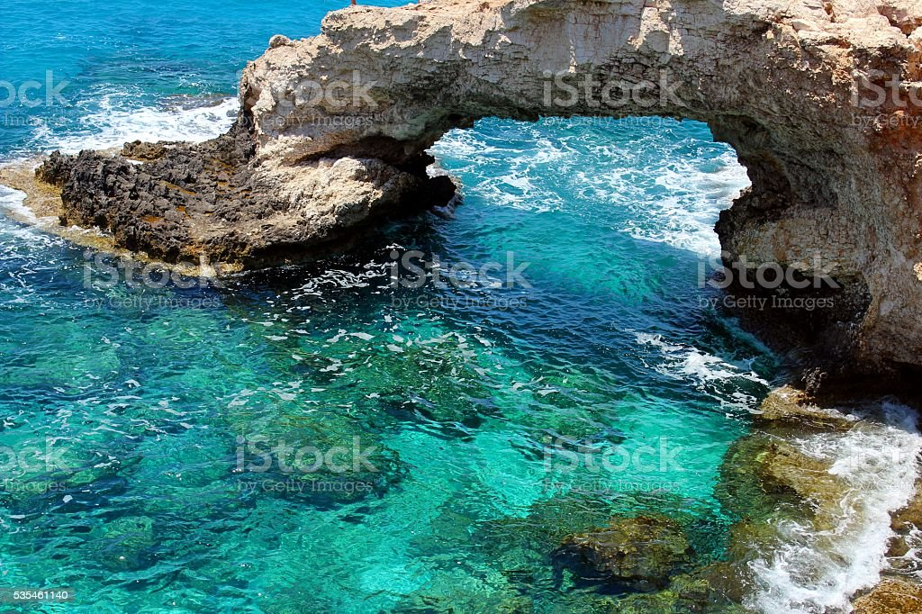 The world famous bridge of Ayia Napa stock photo