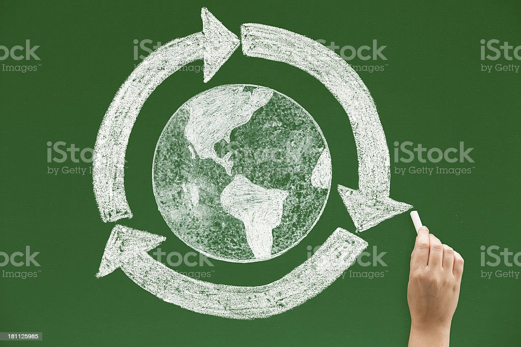 The world goes round royalty-free stock photo
