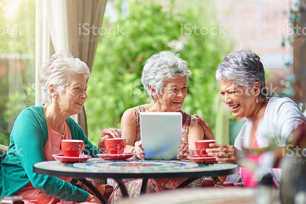 The world has changed but their friendship stayed the same stock photo