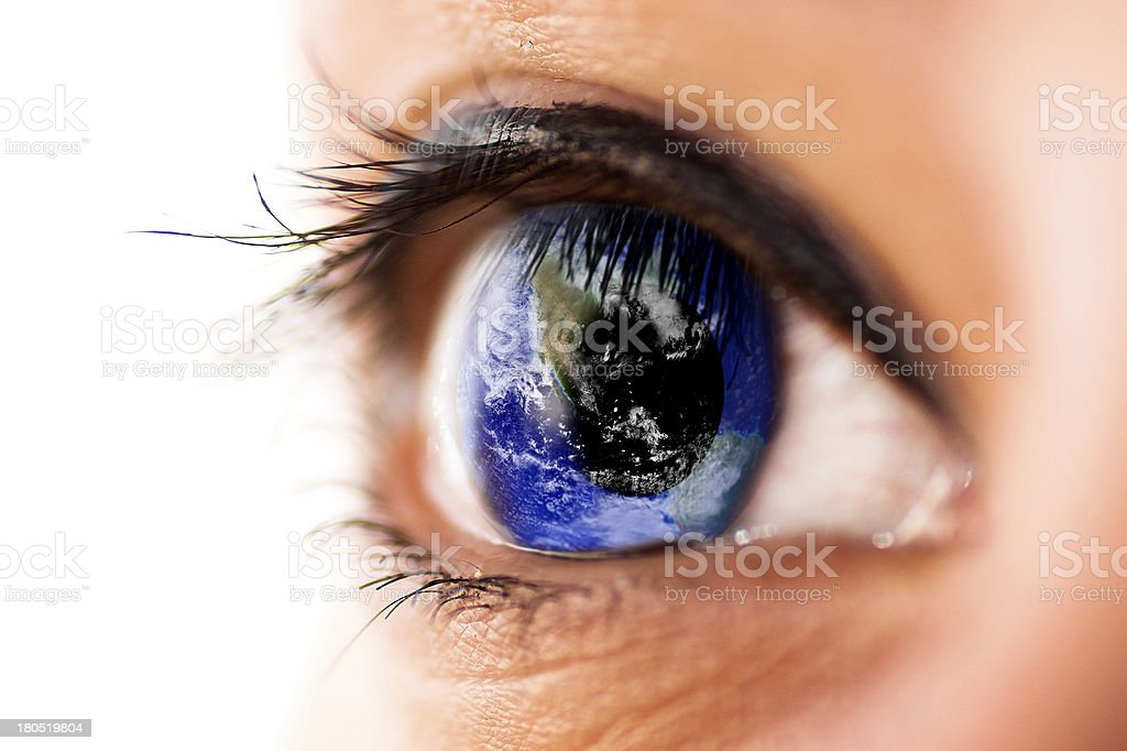 The world in eye royalty-free stock photo