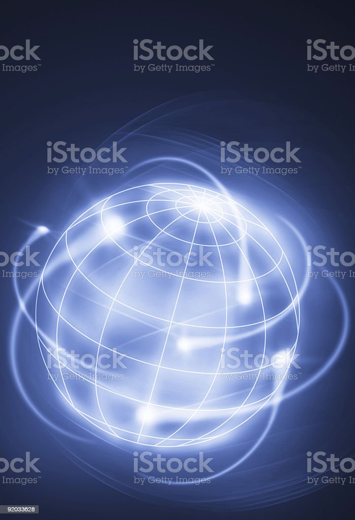 The world in motion royalty-free stock photo