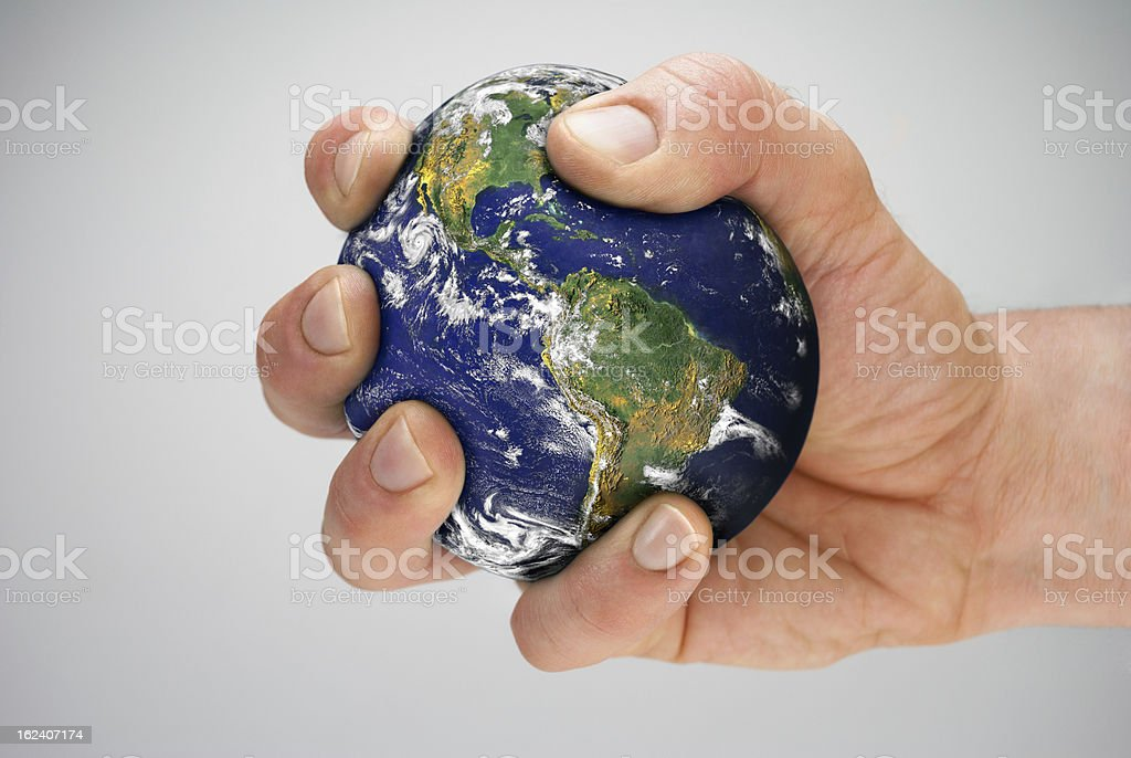 the world in your hands royalty-free stock photo