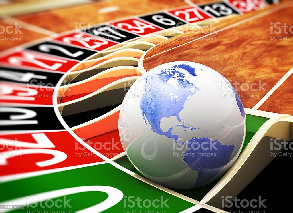 The world is a casino royalty-free stock photo
