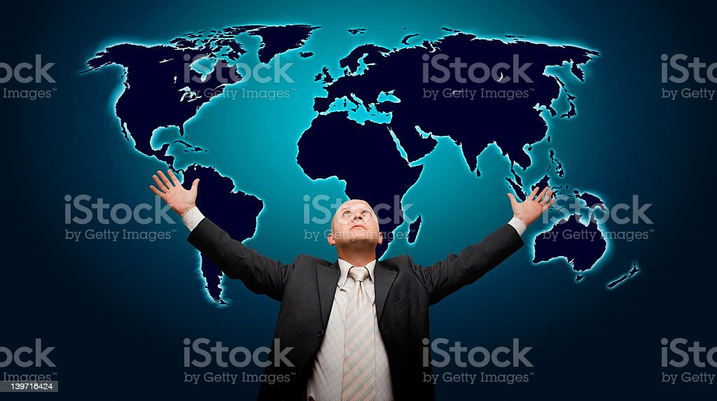 The world is mine - front version royalty-free stock photo