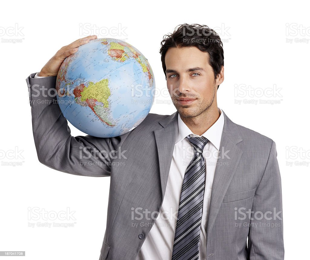 The world is mine to conquer stock photo