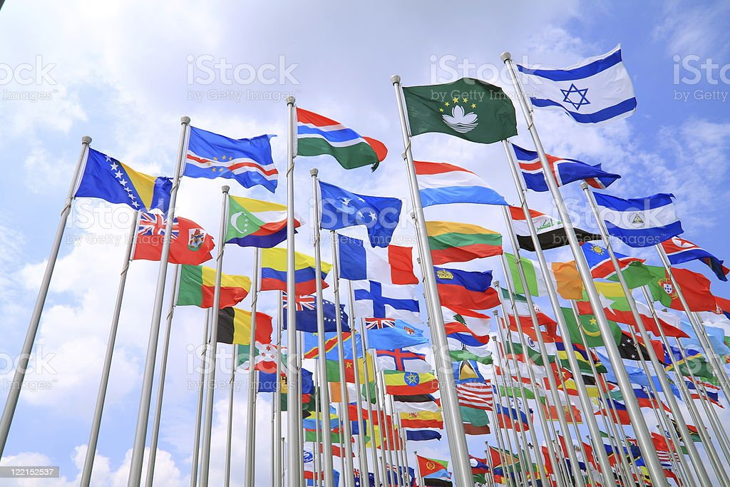 The world national flags royalty-free stock photo