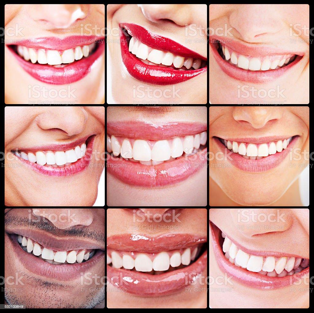 The world of beautiful teeth stock photo